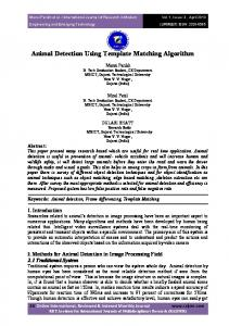 Animal Detection Using Template Matching Algorithm