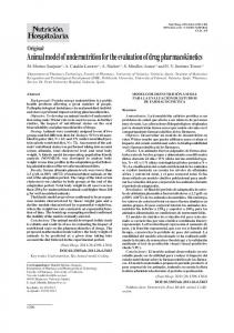 Animal model of undernutrition for the evaluation