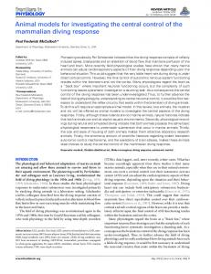 Animal models for investigating the central control of the ... - Frontiers