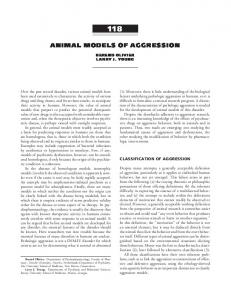 animal models of aggression - ACNP