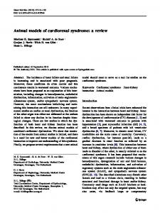 Animal models of cardiorenal syndrome: a review - Springer Link