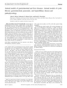 Animal models of gastrointestinal and liver diseases. Animal models of ...