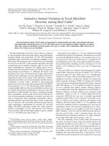 Animal-to-Animal Variation in Fecal Microbial ... - PubAg - USDA