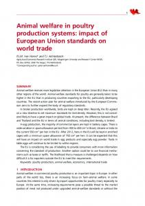 Animal welfare in poultry production systems - Food and Agriculture ...