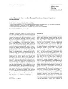 Anion Channels in Chara corallina Tonoplast Membrane - Springer Link