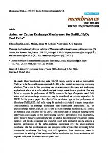 Anion- or Cation-Exchange Membranes for NaBH4/H2O2 Fuel Cells?