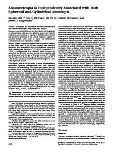 Anisometropia Is Independently Associated with ... - Semantic Scholar