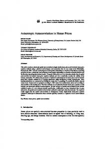 Anisotropic Autocorrelation in House Prices - Springer Link