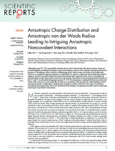 Anisotropic Charge Distribution and Anisotropic