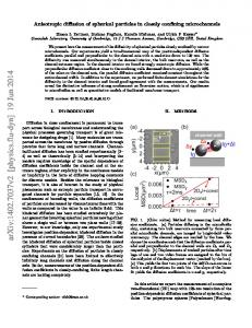 Anisotropic diffusion of spherical particles in closely confining ...
