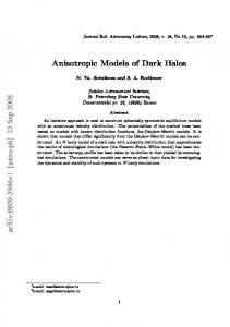 Anisotropic Models of Dark Halos