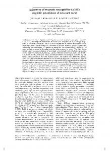 Anisotropy of magnetic susceptibility (AMS) - Lakehead University