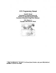 ANN Programming Manual - UMD - Computer Science Department