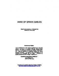 ANNE OF GREEN GABLES - epc-library.com
