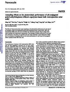 Annealing effects on the photovoltaic performance of all-conjugated ...