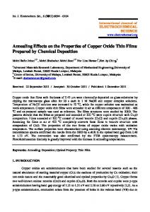 Annealing Effects on the Properties of Copper Oxide Thin Films ...
