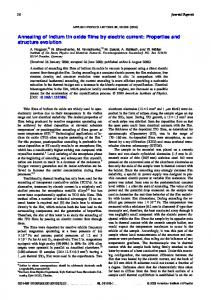 Annealing of indium tin oxide films by electric current - HZDR