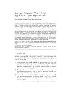 Annotated Probabilistic Temporal Logic - UT Computer Science