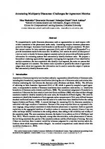 Annotating Multiparty Discourse: Challenges for Agreement Metrics