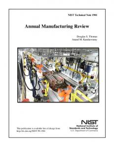 Annual Manufacturing Review - NIST Page - National Institute of ...