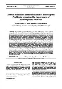 Annual metabolic carbon balance of the seagrass Posidonia oceanica ...