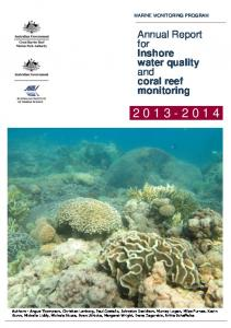 Annual Report for Inshore water quality and coral ... - GBRMPA ELibrary