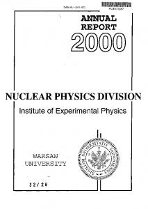 annual report nuclear physics division