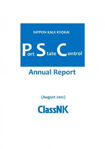 Annual Report on Port State Control (including the ISM ... - ClassNK