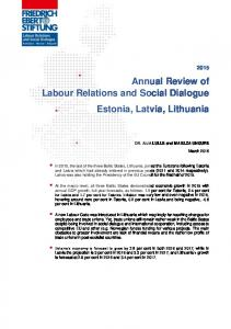 Annual Review of Labour Relations and Social Dialogue Estonia ...