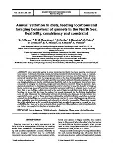 Annual variation in diets, feeding locations and foraging behaviour of ...