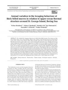 Annual variation in the foraging behaviour of thick ... - Inter Research