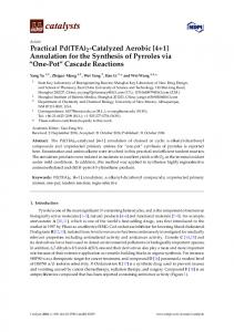 Annulation for the Synthesis of Pyrroles via