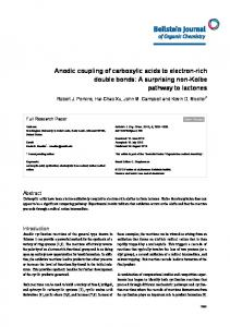 Anodic coupling of carboxylic acids to electron-rich ... - Beilstein Journal