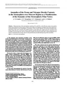 Anomalies of the ozone and nitrogen dioxide contents in the ...