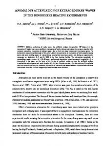 anomalous attenuation of extraordinary waves in the ... - arXiv