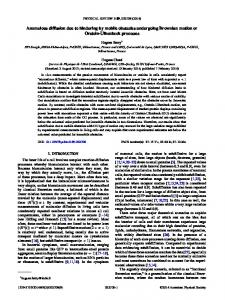 Anomalous diffusion due to hindering by mobile obstacles undergoing ...