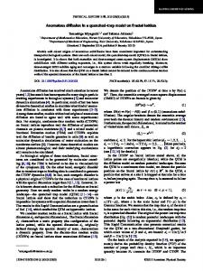 Anomalous diffusion in a quenched-trap model ... - APS Link Manager