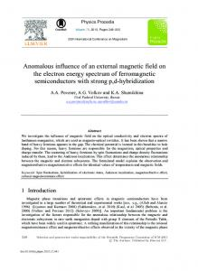Anomalous Influence of an External Magnetic Field on ...