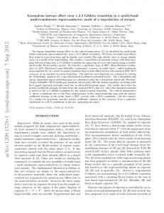 Anomalous isotope effect near a 2.5 Lifshitz transition in a multi-band ...