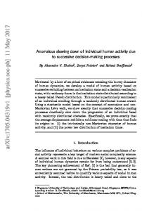 Anomalous slowing down of individual human activity due to ...