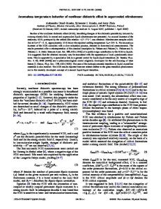 Anomalous temperature behavior of nonlinear dielectric effect in