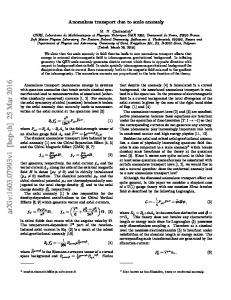 Anomalous Transport Due to the Conformal Anomaly