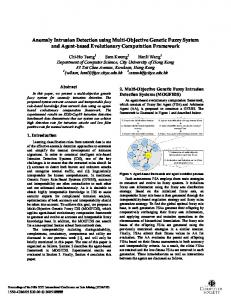 Anomaly Intrusion Detection using Multi-Objective ... - IEEE Xplore