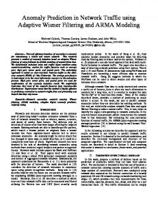 Anomaly Prediction in Network Traffic using Adaptive Wiener Filtering ...