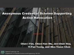 Anonymous Credential Scheme Supporting Active Revocation