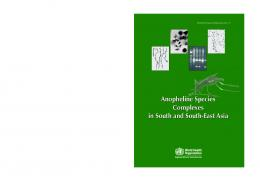 Anopheline Species Complexes in South and South-East Asia ...