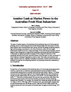 Another Look at Market Power in the Australian ... - AgEcon Search