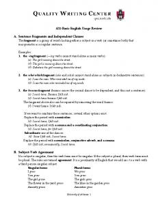 ANSWER KEY TO ADVANCED COMPOSITION EXAM REVIEW ...