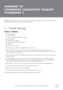 ANSWERS TO CAMBRIDGE CHECKPOINT ENGLISH WORKBOOK ...
