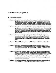 Answers To Chapter 3